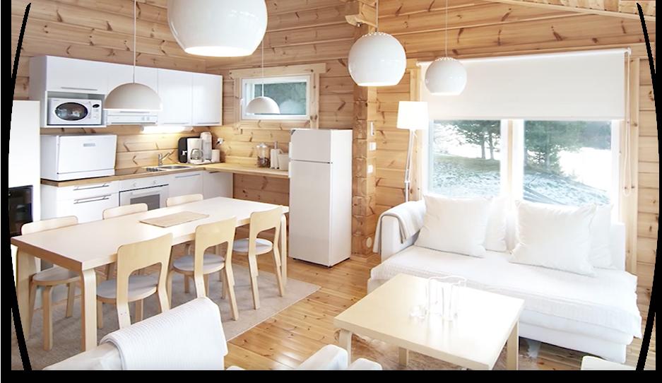 Constructeur de maisons en bois - exemple intérieur de maison en bois